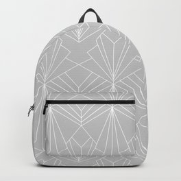 Art Deco on Grey Backpack