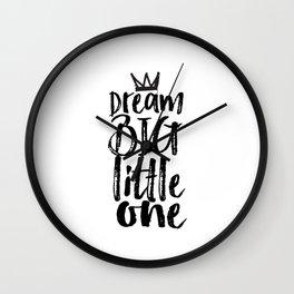 kids room decor,dream big little one,motivational poster,kids gift,nursery decor,bedroom decor Wall Clock