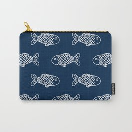 Nautical fish cute simple minimal basic ocean pattern nursery gender nuetral Carry-All Pouch