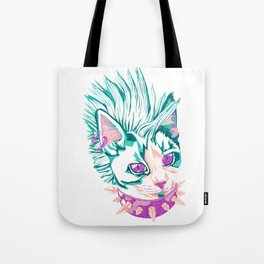 Punk Cat Tote Bag