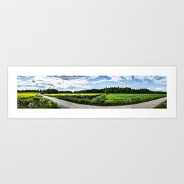 Finland Countryside Panorama Art Print