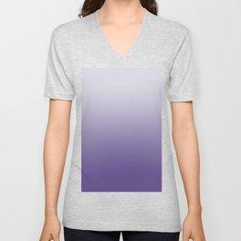 Ombré Ultra Violet Gradient Motif Unisex V-Neck