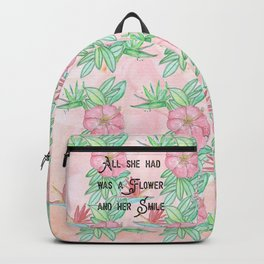 Surfer girl quotes Backpack