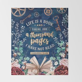 Life is a book Throw Blanket