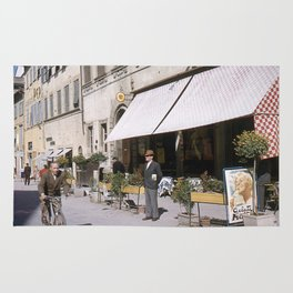Italian Life - Vintage Photography Rug