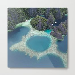 the blue hole in coron Philippines Metal Print