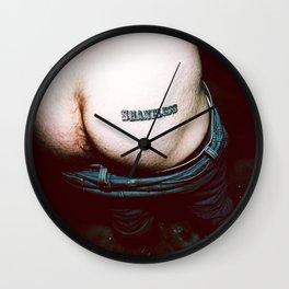 Shameless Ass Wall Clock