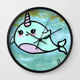 Cute narwhal Wall Clock