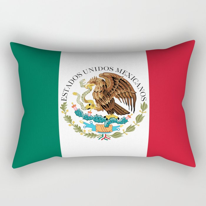 Flag of Mexico - alt version with seal insert Rectangular Pillow