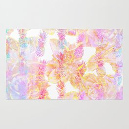 Abstract Pastel Pineapple Rug