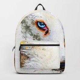 arctic fox bicolor eyes ws std Backpack