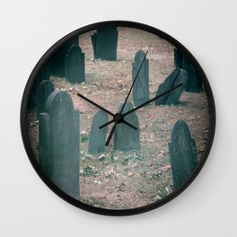 Spooky Little Graveyard Wall Clock