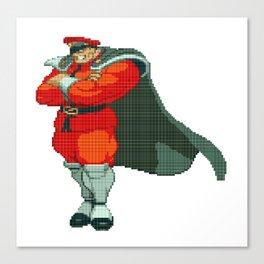 M. Bison (AKA Vega) Pixel Art Canvas Print