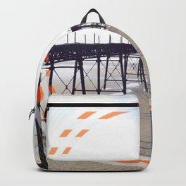 Victorian Pier - orange graphic Backpack