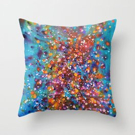 A Dance with Time and Space Throw Pillow