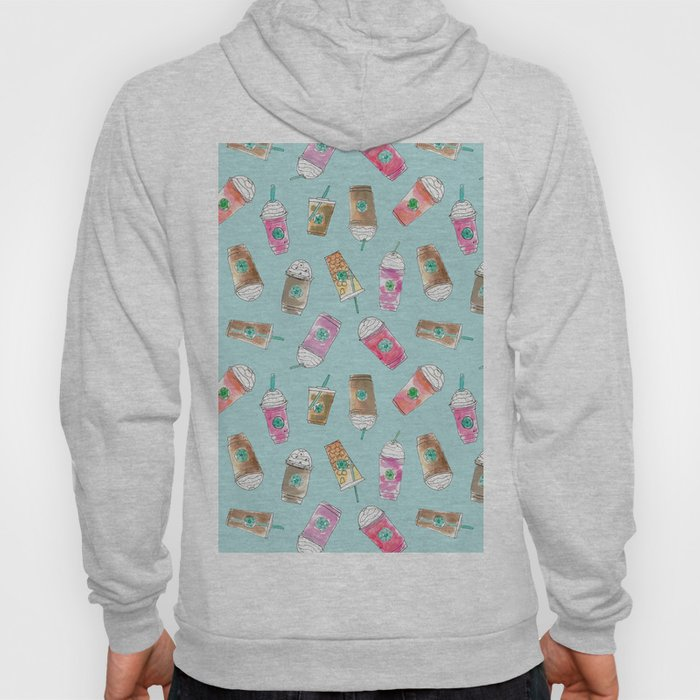 Coffee Crazy Toss in Blueberry Hoody