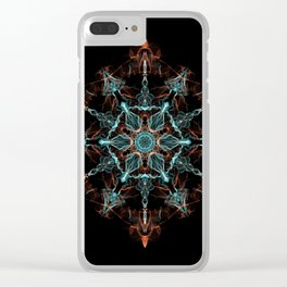 Substance of the Universe Mandala Clear iPhone Case