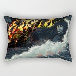 Running to the Sea Rectangular Pillow