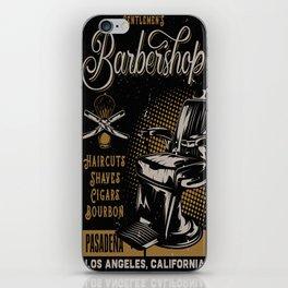 Gentlemen's Barber Shop LA iPhone Skin
