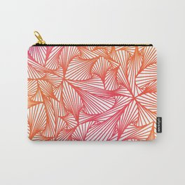 Triangle Illusion (Pink to Orange- Inverted) Carry-All Pouch