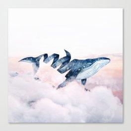 Magic Whale Canvas Print