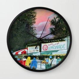 Summer Street Festival Wall Clock