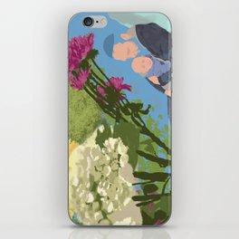 David, Lyova, and Flowers, Mobile iPhone Skin