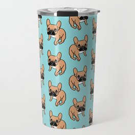 The Cute Black Mask Fawn French Bulldog Needs Some Attention Travel Mug