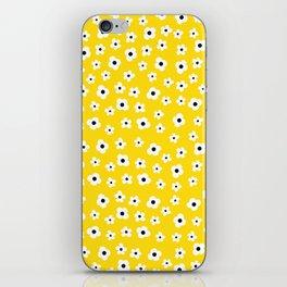White Yellow Spring Flower Pattern iPhone Skin