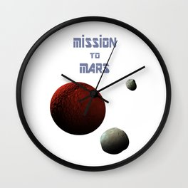 Mission to Mars Wall Clock