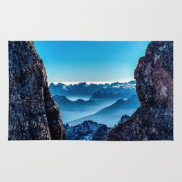 Moutain sky ice blue Rug