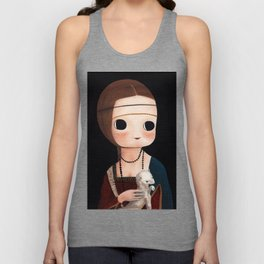 The Lady with Ermine Unisex Tank Top