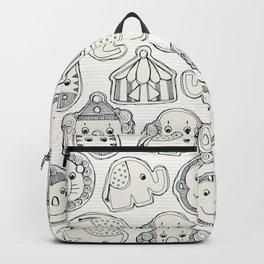 circus cookies indigo ivory Backpack