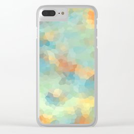 """Colored crystals . """"Sunbeams"""" . Clear iPhone Case"""
