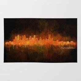 Houston City Skyline Hq v4 DARK Rug