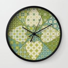 Quilt 4 (Hearts) Wall Clock