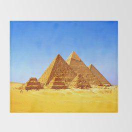 The Pyramids At Giza Throw Blanket