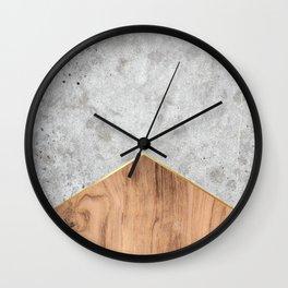 Concrete Arrow - Wood #345 Wall Clock