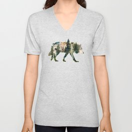 Wolf is the Pride of Nature Unisex V-Neck