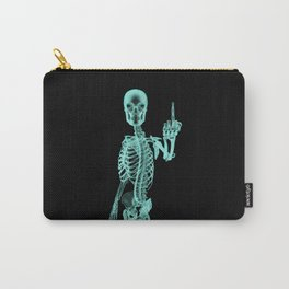 X-ray Bird / X-rayed skeleton demonstrating international hand gesture Carry-All Pouch