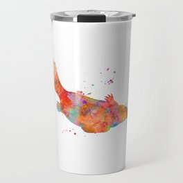 Colorful Platypus Travel Mug