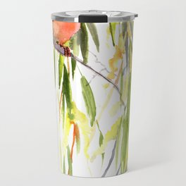 KIngfisher and Weeping Willow Travel Mug