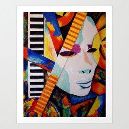 Unmasking the Sound Art Print
