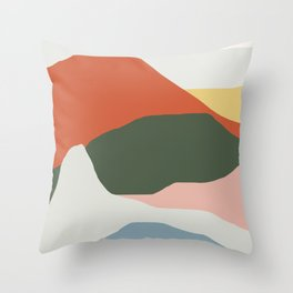 Mountains of Colors Throw Pillow