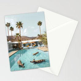 Pig Poolside Party Stationery Cards