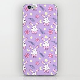 Sakura Bunny // Purple iPhone Skin