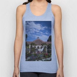 Egret in front of the Botanical Building Unisex Tank Top
