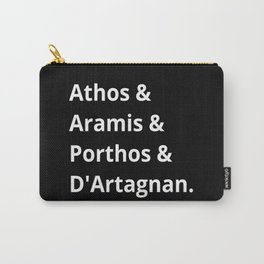 The Three Musketeers Names II Carry-All Pouch