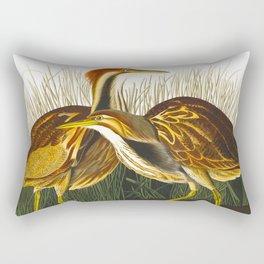 American Bittern Vintage Bird Art Rectangular Pillow