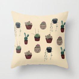 Succulents Friends Throw Pillow